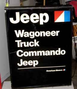 Kaiser-Willys-Jeep Sign Restoration