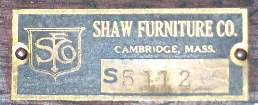 John North Willys Desk   Shaw Furniture Tag